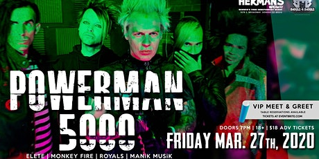 Powerman 5000 Live at Hermans Hideaway tickets