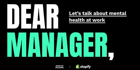 Dear Manager: Let's Talk About Mental Health at Work tickets