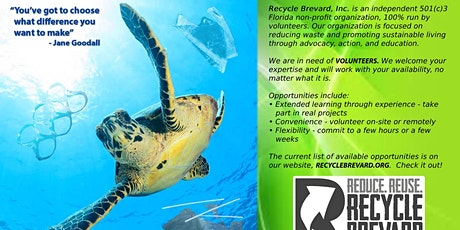 Recycle Brevard Volunteer Meeting tickets