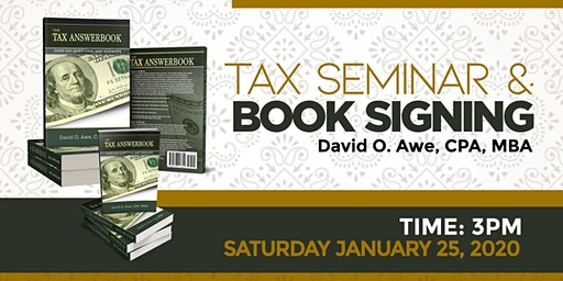 Tax Seminar & Book Signing