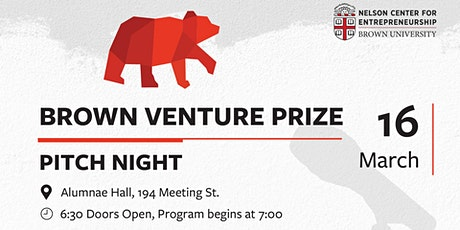Brown Venture Prize Pitch Night: Empowering The Next Big Idea  tickets