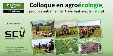 COLLOQUE EN AGROÉCOLOGIE billets