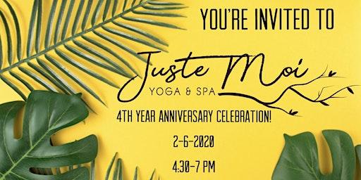 Juste Moi Yoga & Spa Anniversary Celebration!