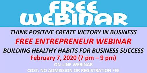 Free Entrepreneur Webinar Feb 7 2020
