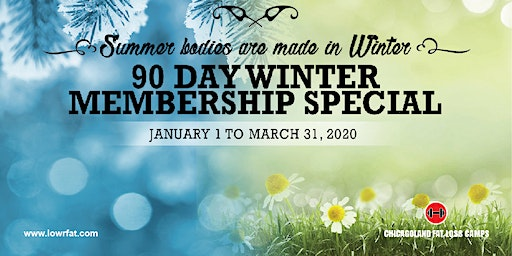 Last Chance!  90 Day Winter Special (Chicagoland Fat Loss Camps MATTESON)