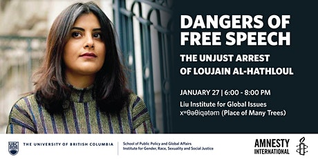 Dangers of Free Speech: The Unjust Arrest of Loujain Al-Hathloul tickets