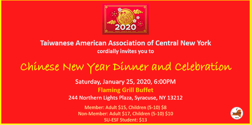 TAACNY Chinese New Year Dinner and Celebration