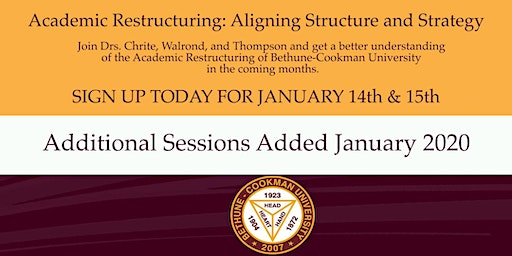 B-CU Academic Restructuring:Aligning Structure & Strategy (Added Sessions)