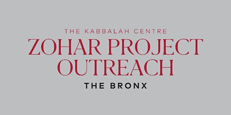 Zohar Project Outreach:  The Bronx tickets