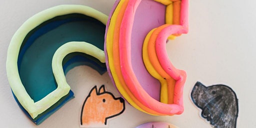 Kids' Make It Club:  Rainbow Clay Dishes & Stickers