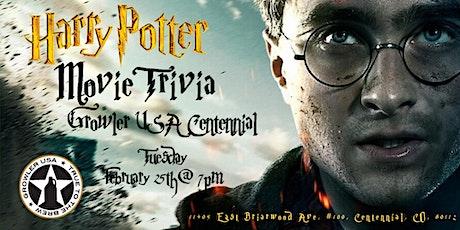 Harry Potter Movies Trivia at Growler USA Centennial tickets
