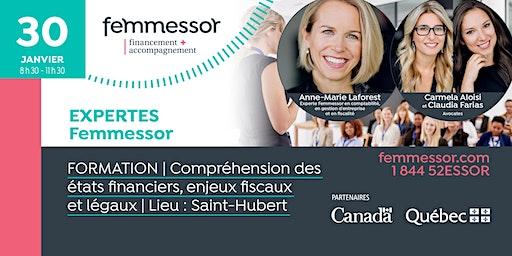 FORMATION | Compréhension des états financiers, enjeux fiscaux et légaux | Saint-Hubert