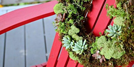 Living Door Wreath with succulents - Workshop *Date change due to Covid-19* tickets