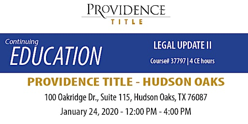 Legal Update II (Course #33797 | 4 CE hours)