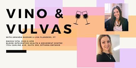 Smash the Stigma Series Pt 1: VINO AND VULVAS tickets