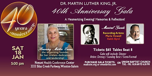 40th MLK Noon Hour Anniversary Gala