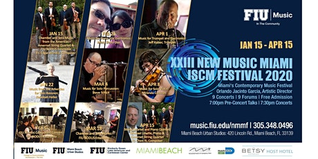XXIII New Music Miami ISCM Festival 2020 tickets
