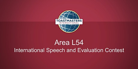 Area L54 - International Speech and Evaluation Contest - Toastmasters tickets