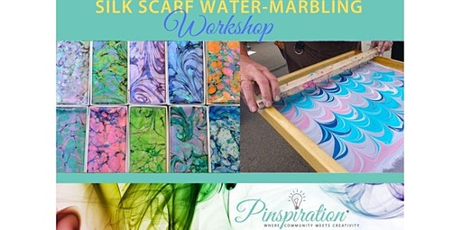 Silk Scarf Water-Marbling Workshop (04-26-2020 starts at 1:00 PM)