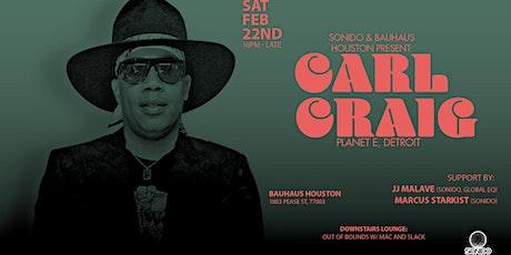 Carl Craig @ Bauhaus Houston tickets