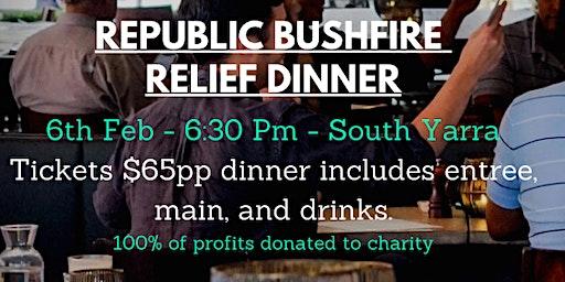 Republic's Fire Relief Dinner