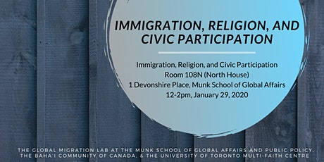 Immigration, Religion, and Civic Participation tickets