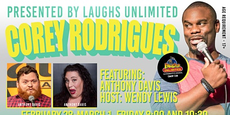 Corey Rodrigues featuring Anthony Davis tickets