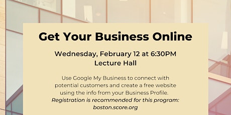 Get Your Business Online tickets