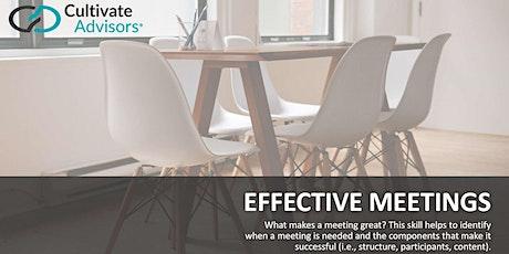 GrowU Leadership Series:  Effective Meetings tickets