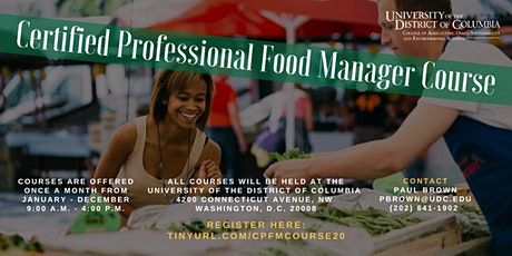 Certified Professional Food Manager Course tickets