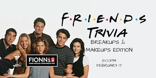 Friends Trivia - Feb 17, 8:00pm - Fionn MacCool's Hamilton