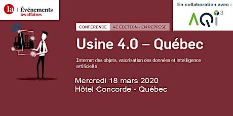 Conférence Usine 4.0 à Québec - Événements Les Affaires billets