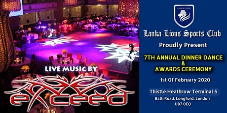 Lanka Lions 7th Annual Dinner Dance with Exceed tickets