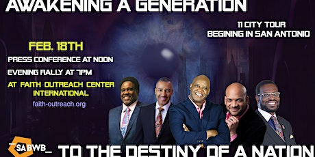 Awakening a Generation to the Destiny of  a Nation tickets