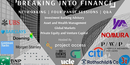 Breaking Into Finance By Project Access x UCLe x UCL Guild