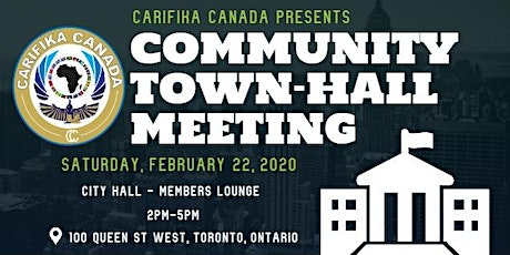 Carifika Canada Presents: Community Town-Hall Meeting tickets