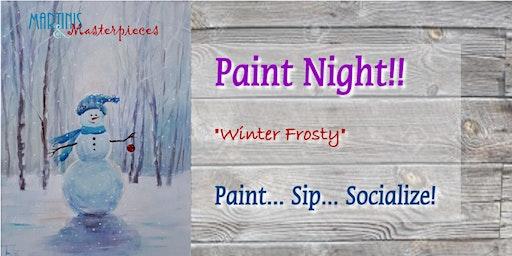 Winter Frosty - Paint Night
