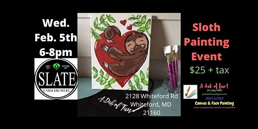 Sloth Paint Event