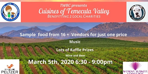 TWBC Presents Cuisines of Temecula Valley