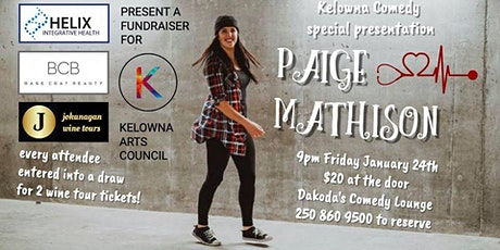 Kelowna Comedy Presents Paige Mathison for the Arts Council tickets