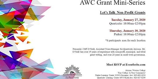 Grant Mini-Series: Let's Talk Non-Profit Grants