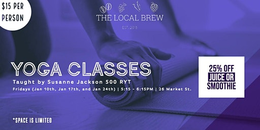 Yoga Classes at the Local Brew