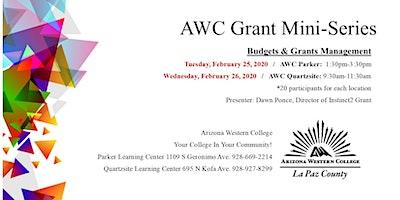 AWC La Paz Grant Mini-Series Workshop: Budgets and Grants Management