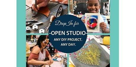 Open Studio- 50+ Options Daily -On Demand Crafting-  (08-20-2020 starts at 10:00 AM) tickets