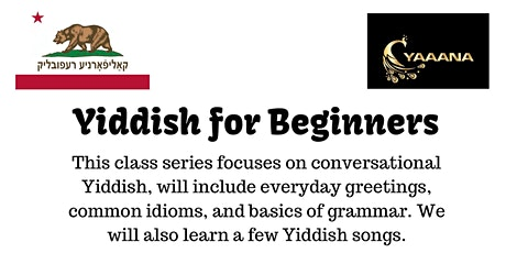 Yiddish for Beginners 2020 tickets