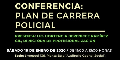 CONFERENCIA: PLAN DE CARRERA POLICIAL boletos