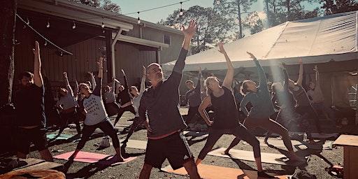 Yoga in the Beer Garden