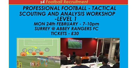 PROFESSIONAL FOOTBALL TACTICAL SCOUTING AND ANALYSIS WORKSHOP Abbey Rangers tickets