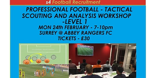 PROFESSIONAL FOOTBALL TACTICAL SCOUTING AND ANALYSIS WORKSHOP Abbey Rangers