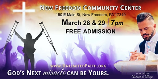 Unlimited Faith event * Healing and Miracles w/ Evangelist Wessel du Bruyn